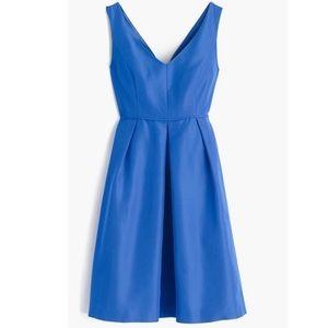 J. Crew Kami Faille Dress in Bright Grotto Blue 0